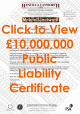 Click to open £10M Public Liability (PLI) Document for Simon Mawby